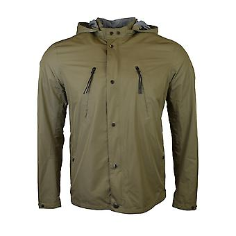 CP Company Grey Soft Shell Goggle Hooded Jacket