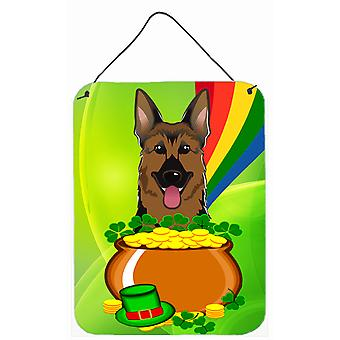 German Shepherd St. Patrick's Day Wall or Door Hanging Prints