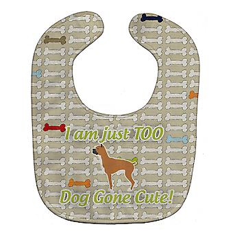 Carolines tesori BB6558BIB Boxer Dog Gone Cute Baby Bib