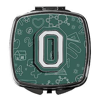 Carolines Treasures  CJ2010-OSCM Letter O Back to School Initial Compact Mirror