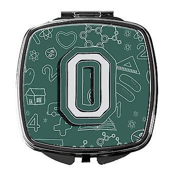 Carolines Schätze CJ2010-OSCM Buchstabe O zurück zu Schule erste Kompakt-Spiegel