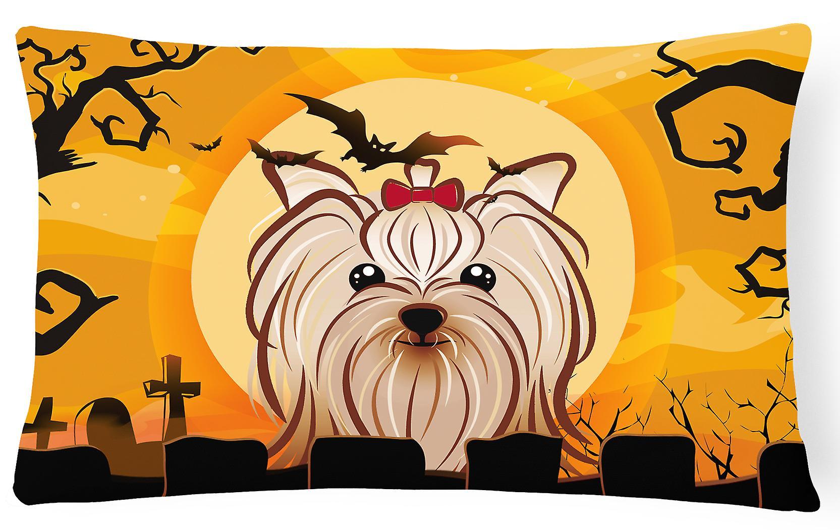Tissu Yorkshire Yorkishire Terrier Oreiller Décoratif Halloween H2IYDeWEb9