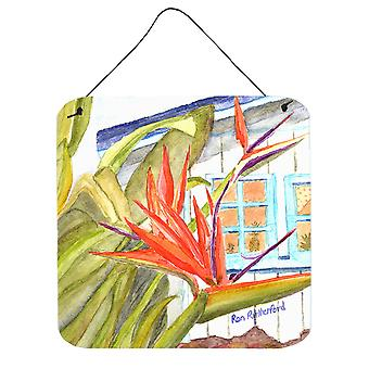 Flower - Bird of Paradise Aluminium Metal Wall or Door Hanging Prints