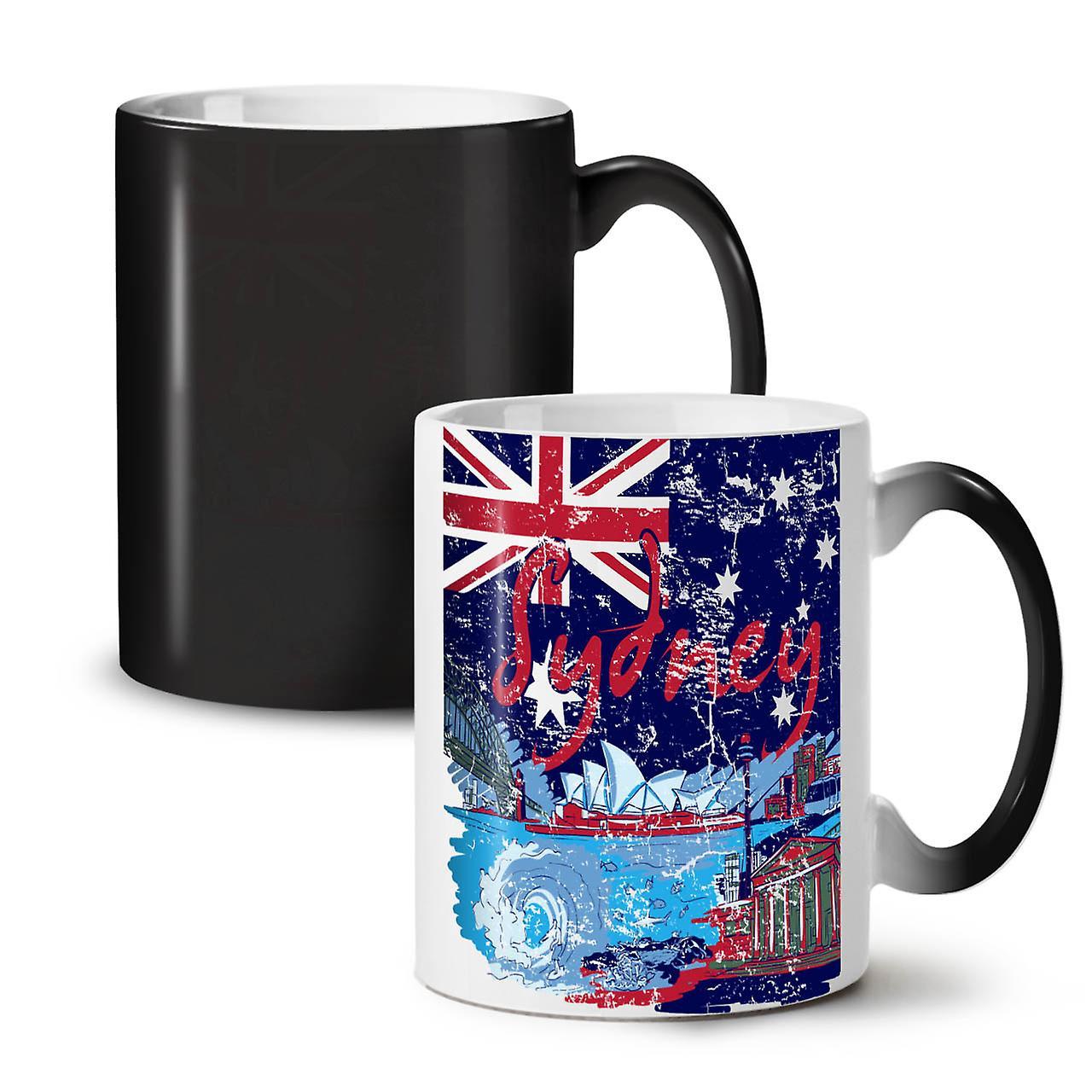 Sydney Nouvelle Noir Café Tasse Changeant Couleur OzWellcoda Thé Céramique 11 iwkOPXZuT