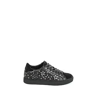 Kriminalitet London women's 2542520 sort læder sneakers