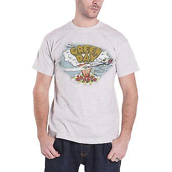 Grøn dag T Shirt Dookie nødstedte band logo nye officielle Herre grå