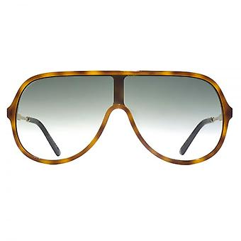 Gucci Oversize Shield Sunglasses In Light Havana