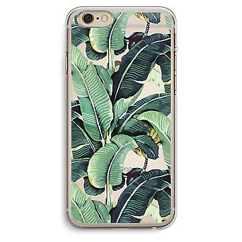 iPhone 6 Plus / 6S Plus Transparent Case (Soft) - Banana leaves