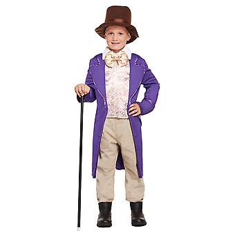 Factory Boss Childrens Fancy Dress Costume Top with Attached Jacket & Hat