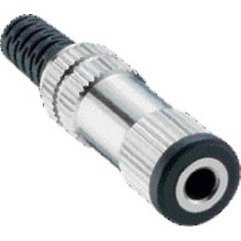 3.5 mm audio jack Socket, straight Number of pins: 2 Mono Silver Lumberg 1522 03 1 pc(s)