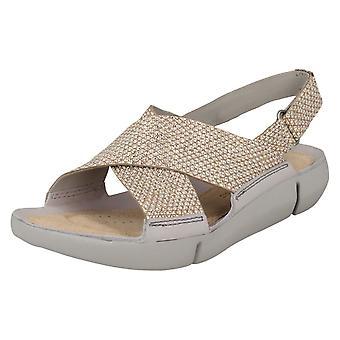 Dames Clarks Slingback platte sandalen Tri Chloe