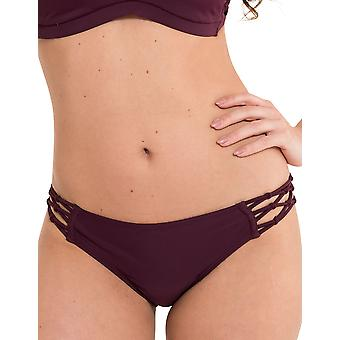 LingaDore 2911B-1-147 Women's Explore Vignetto Red Solid Colour Swimwear Beachwear Bikini Bottom