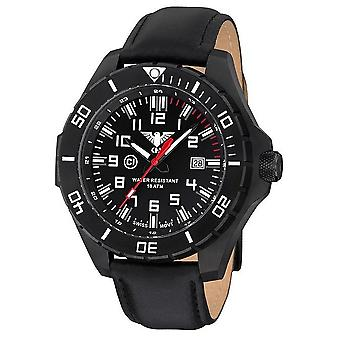 KHS watches mens watch black steel KHS country leader. LANBS. L
