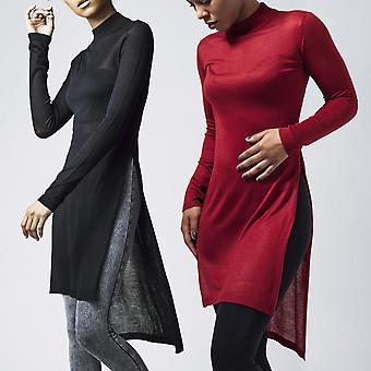 Urban classics ladies - fine knit knit shirt long
