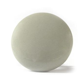 Large Flat Light Grey Ceramic Cupboard Knob
