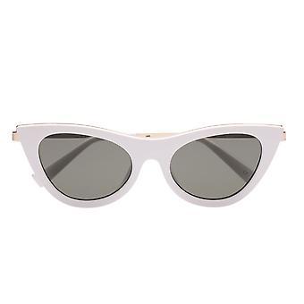 Le Specs Enchantress White Cat Eye Sunglasses