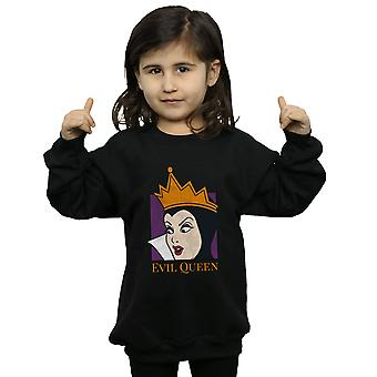 Disney Girls Evil Queen Cropped Head Sweatshirt