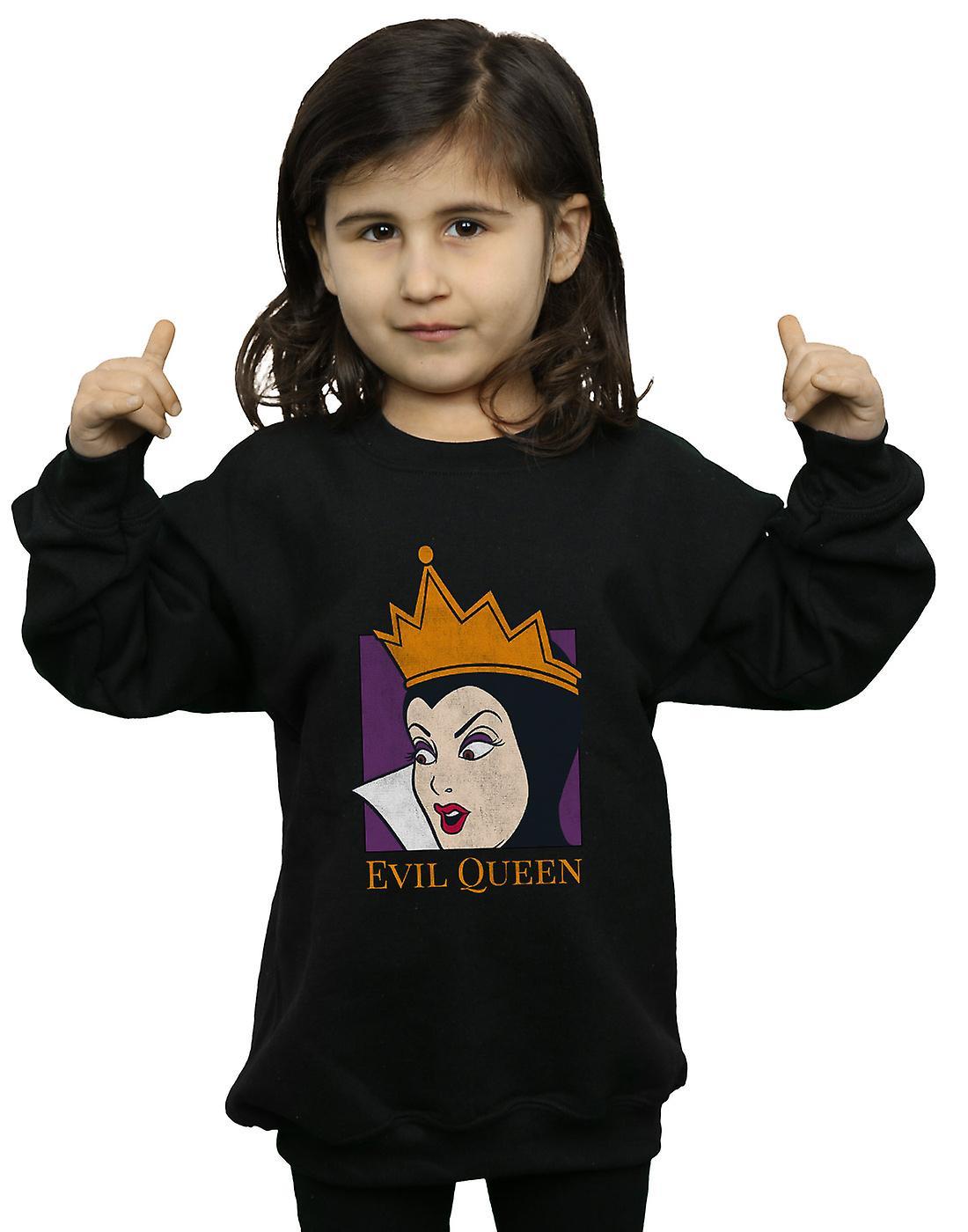 Reine du mal Disney filles recadrée tête Sweatshirt