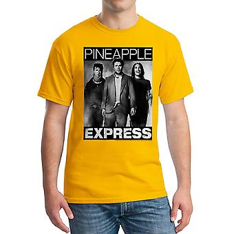 Pineapple Express BW plakat mænds guld T-shirt