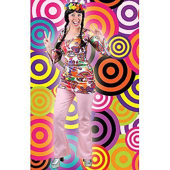 Män kostymer kvinnor Hippie disco byxor ökade