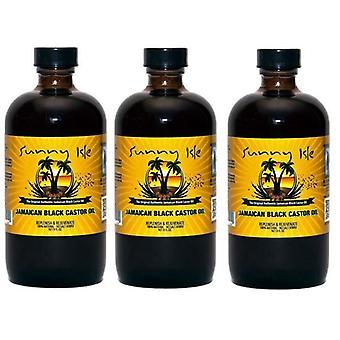 Sunny Isle jamaicanske Black Castor Oil regelmæssig 4oz. (118ml) (3-Pack)