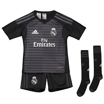 2018-2019 Real Madrid Adidas Home Goalkeeper Mini Kit