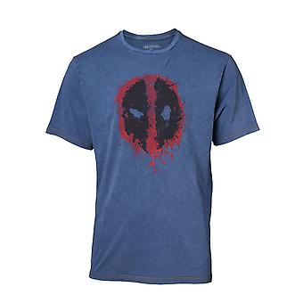 Deadpool كلاسيك نمط دليل القميص الجينز فو تي شيرت أزرق XL TS551101DEA-XL