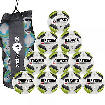 10 x DERBY STAR training ball - brilliant TT dual bonded + includes ball sack