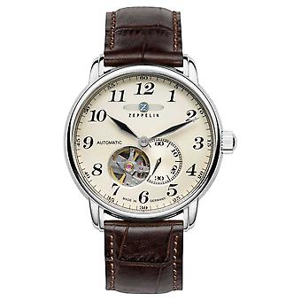 Zeppelin Series LZ127 Automatic Brown Leather Strap 7666-5 Watch