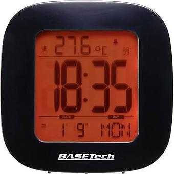 BASETECH E0126R Radio despertador negro alarma veces 1