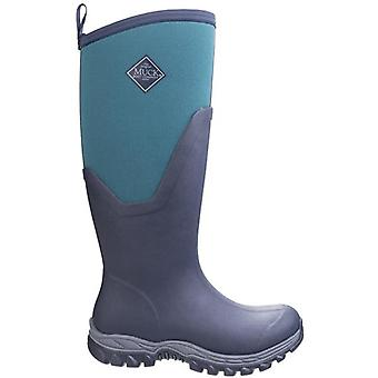 Muck Boots Arctic Sport Navy and Green Wellington Boots