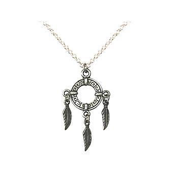 Gemshine - acchiappasogni collana - ciondoli - - argento placcato - boho - primavera - 45cm