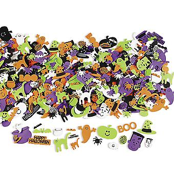 500 Happy Halloween Self Adhesive Foam Shapes for Kids Craft