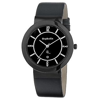 ORPHELIA Mens Analogue Watch Farron Black Leather 122-6705-44