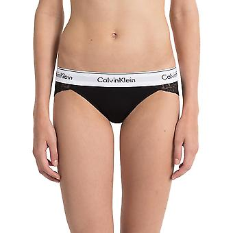 Calvin Klein Modern Cotton Lace Bikini Brief - Black
