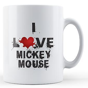 Я любовь Микки напечатаны кружка