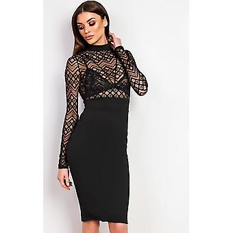 IKRUSH Womens Nelli Bodycon Midi  Dress