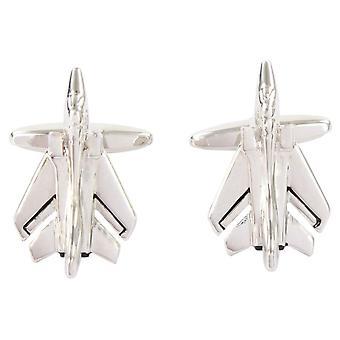 David Van Hagen Tornado Plane Cufflinks - Silver