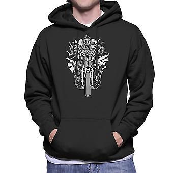 Gas Mask Chopper Men's Hooded Sweatshirt