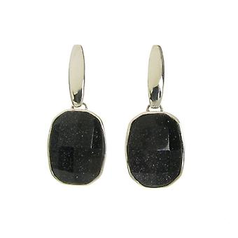 Cavendish French Chunky and Square Blue Sandstone Earrings