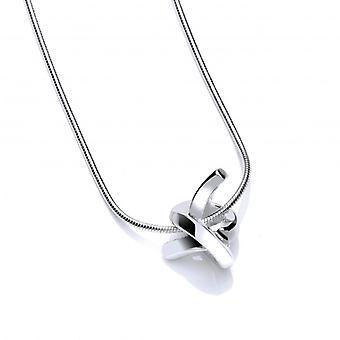 Cavendish Frans gepolijst zilver liefde knoop hanger zonder ketting