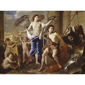 David Victorious, Nicolas Poussin, 50x40cm
