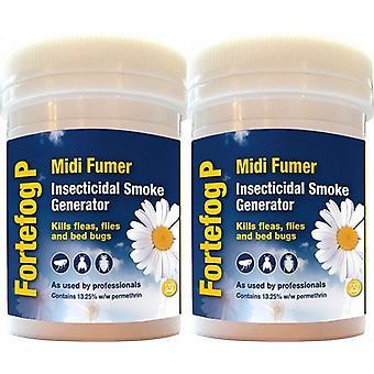Cluster Fly Killer   Fortefog Midi Fumer Smoke Bomb Twin Pack