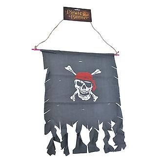 Piraten-Banner (Distressed Stoff)