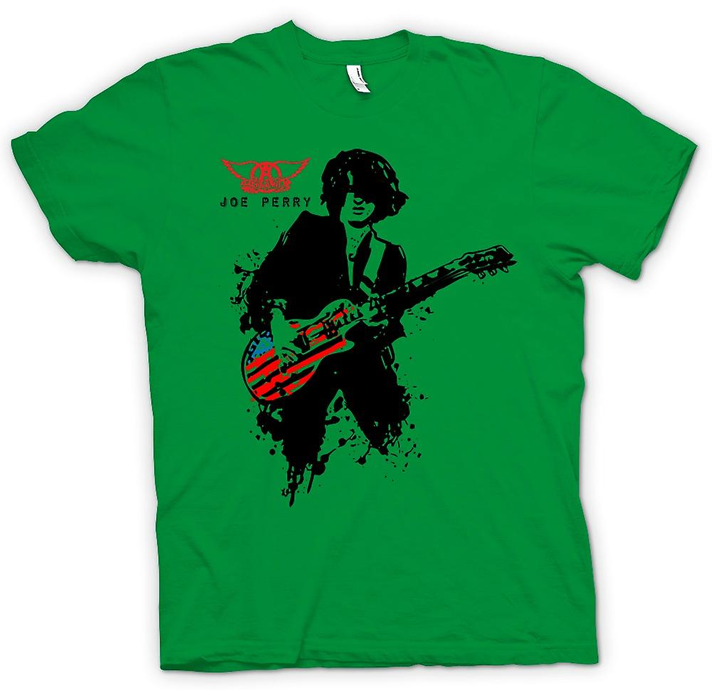 Hommes T-shirt - Aerosmith - Joe Perry - Guitare