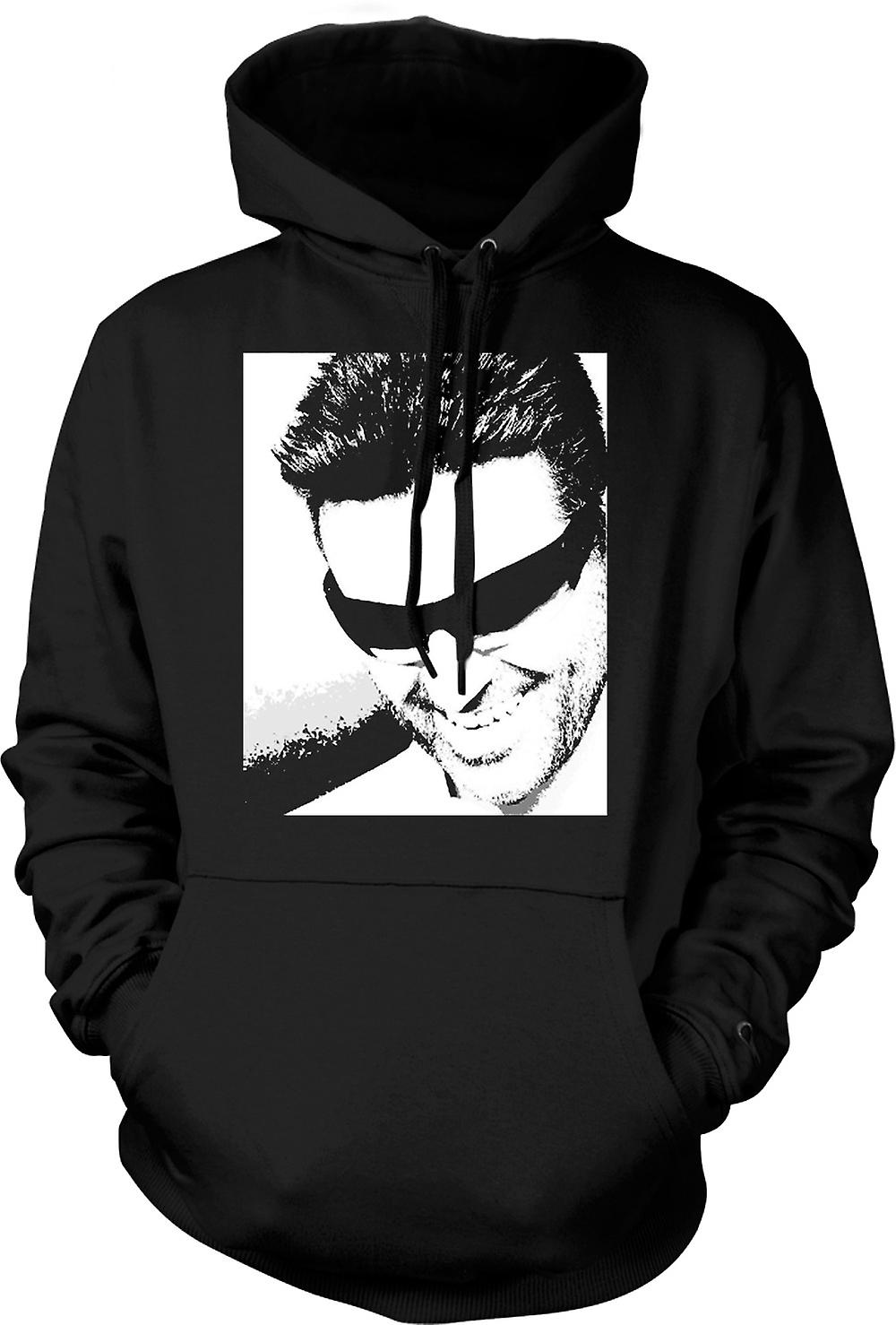 Mens Hoodie - George Michael - Pop Art - porträtt