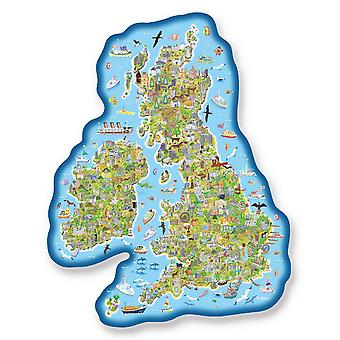 Gibsons Jigmap Jigsaw Puzzle - Great Britain & Ireland (150 Pieces)
