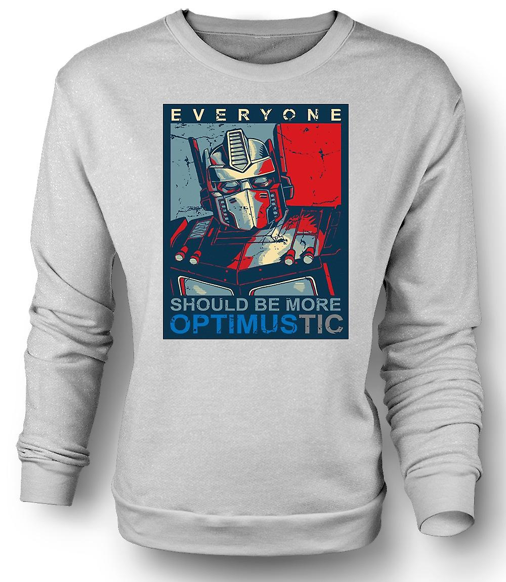 Mens Sweatshirt Transformers Optimus Primus Optimustic