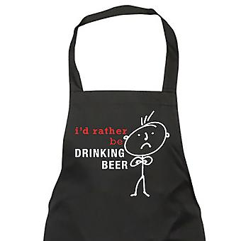 Mens I'd Rather Be Drinking Beer Black Apron