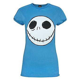 Nightmare Before T-Shirt bleu Christmas Jack inverse couture féminine